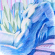 Nude-Muse-angel-Tableau-ヌード-芸術-アート-絵画:青い逆光