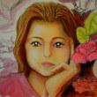 パステルイラスト:見つめる少女の瞳