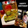 秋の誕生日ケーキ