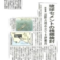 追い詰められたデニー知事、本部港が駄目なら、民間桟橋があるさ、土砂は琉球セメントの桟橋から大型船で搬出