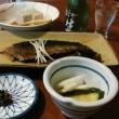鰊の旨煮と蕎麦豆腐で冷や生酒です。