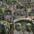 九品寺の千体石仏 紅葉 奈良県御所市