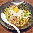 花笑み中華そば かれん@川越市 今宵の限定麺は真っ黒けのもちもち太麺、煮干まぜそば850円!