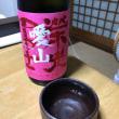 Tonight's sake is 'Glorious My. Fuji  Love mountain', non filtered raw Sake.