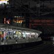 夕暮れの浜松を通過するN700系新幹線 (2018年10月)