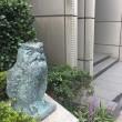 長谷工ライフ研修センターのフクロウ2羽の銅像