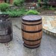樽を利用した雨水タンク 15年目の交換