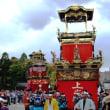 <岩倉桜まつり> 3台の山車が巡行、からくりを実演