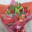 ダンスの発表会の花束