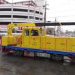 南海電鉄工務部車両MCーNo.614とだんじり