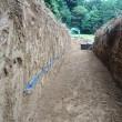 生姜の貯蔵庫(トンネル)掘ってます。