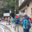 2 宮島(博打尾~大休~包ヶ浦)登山  記念写真後に体操しスタート
