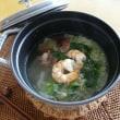 海老&三つ葉のシンプル鍋~黒胡椒風味