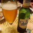 チェコビールと天ぷらで乾杯 ( ^-^)/U☆U\(^-^ )