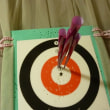 吹矢の練習