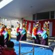 帯島小学校のどんと祭でした