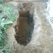 庭に穴ボコ!