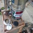 ロケットストーブで炭作り