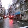 またまた夕方浪速区の事務所近くに消防車・パトカー多数集結。