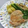 鶏胸肉のソテーとサーモンのカルパッチョ