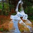 氷彫刻 イナバウアー