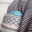 初おろし、絽の縞小紋&羅帯&着物周りの直し