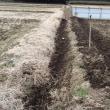 休耕田の耕耘と畦の土上げ