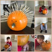Hedgehog- かぼちゃでハリネズミ。