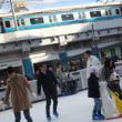 パンダ広場にスケートリンク