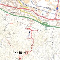 銭函天狗山のGPSトラック