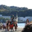 逗子海岸流鏑馬と武者行列を見学