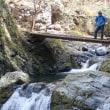 川苔山行き:こんな橋を何回か渡りました。