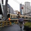 東京・繁華街に横たわる踏切