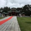 朝から神社