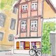 パソコンで描く水彩画 風景画 ドイツの建物
