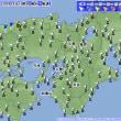 10月14日 アメダスと天気図。