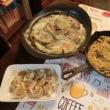 豆乳味噌あさり鍋&焼きシュウマイ&ペペロン風パスタ