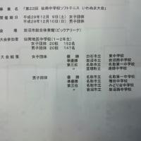 仙南中学校ソフトテニスいわぬま大会
