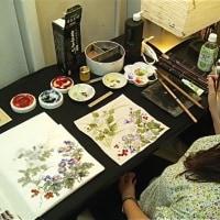 全日本水墨画展覧会にむけて 生徒さんから