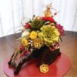 お正月飾り  🌸花ぐるま2017バージョン  ~プリザーブドフラワーで~