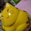 黄色い猫の貯金箱