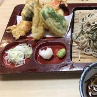 あかし庵で天ぷらそば大盛り