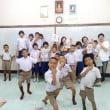 タイで山岳民族支援ボランティア 小学校で日本語や日本文化を教る