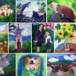 小学生の油絵