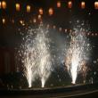 盆踊りで花火🎇🎇🎇。