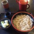 キノコの天ぷら+もりそば@長野県佐久市「佐久の草笛」