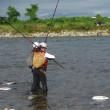 神通川に魅せられた女釣師