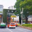 2017.10.11: 中央線 武蔵境駅: 蔦の葉からまるゲートがユニーク