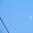 5/28 18時15分をまわって月があった