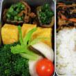 青菜の肉巻き・ひじき煮・かぶ漬け・・・おっと弁